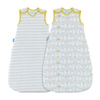 Vak spací Elephant Love - Wash and Wear - Twin pack 2,5 Tog 0-6m
