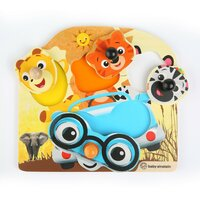Hračka drevená puzzle Friendy Safari Faces HAPE 12m+