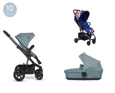 Dvojkombinácia Harvey2 All-Terrain Ocean Blue + Buggy XS Union Jack Vintage Mini za 0,01 €