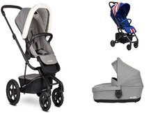 Dvojkombinácia Harvey2 All-Terrain Peak Arctic Grey + Buggy XS Union Jack Vintage Mini za 0,01 €