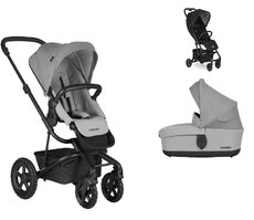 Dvojkombinácia Harvey2 All-Terrain Stone Grey + Buggy XS Oxford Black Mini za 0,01 €