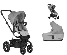 Dvojkombinácia Harvey2 All-Terrain Stone Grey + Buggy XS Soho Grey Mini za 0,01 €