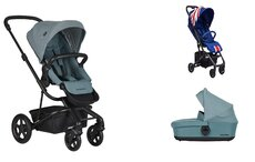 Dvojkombinácia Harvey2 Ocean Blue + Buggy XS Union Jack Vintage Mini za 0,01 €