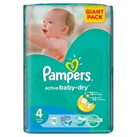 Plienky Pampers Active Baby-dry  Giantpack Maxi 76 ks 8-14kg