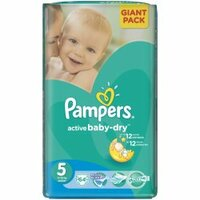 Plienky Pampers ActiveBaby Giantpack Junior 64ks 11-18kg