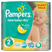 Plienky Pampers Giantpack Mini 100ks 3-6kg