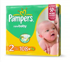 Plienky Pampers Giantpack mini 108 ks 3-6 kg