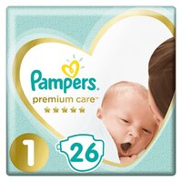 Plienky Premium Care 1 NEWBORN 2-5kg 26 ks Pampers