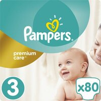 Plienky Premium Care 3 MIDI 5-9kg 80ks Pampers