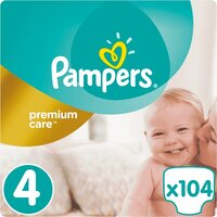 Plienky Premium Care 4 MAXI 9-14 kg 104 ks Pampers