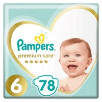 Plienky Premium Care 6 EXTRA LARGE 16kg+ 78 ks Pampers