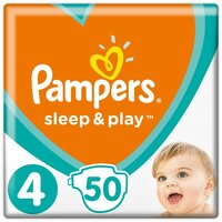 Plienky Sleep&Play 4 MAXI 9-14kg 50 ks Pampers