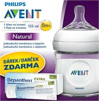 Avent fľaša 125ml Natural PP+30g Bepanthen EXTRA