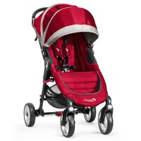 Kočík Baby Jogger BJ10436 City Mini Single 4W - CRIMSON/GRAY - VYSTAVENÝ KUS