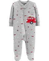 Overal zips Firetruck chlapec NB