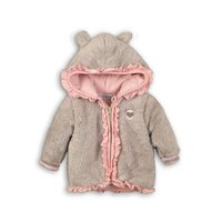 Mikina s kapucňou B-SO SOFT OUTSIDE 86 Grey - Pink