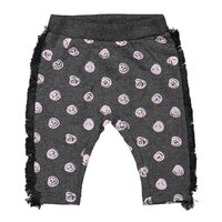 Nohavice do pása Z-SO SOFT HUNNY BUNNY Dark grey melee + Light pink dots 86