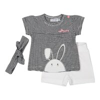 a91284f65862 Set 2-dielny+čelenka A-SO BRIGHT HELLO BUNNY 74 Black