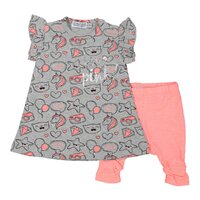 Set 2-dielny šaty A-SO BRIGHT LOVE PINK 62 Grey