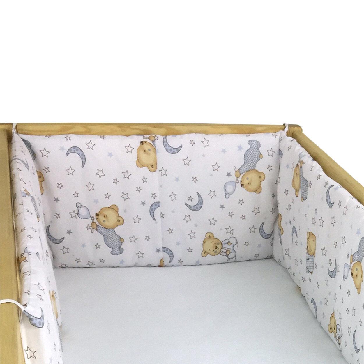 Hniezdo do postieľky macko biela Babyland 01cfdd5211a