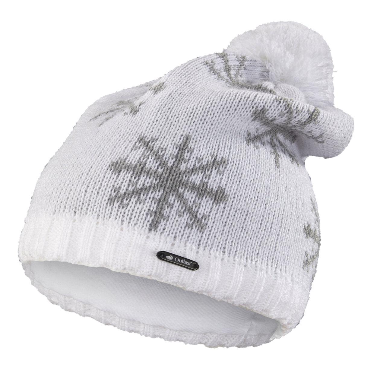 4af5ea701 Čiapka pletená spadnutá VLOČKA Outlast ® veľ.4,45-48cm biela little angel