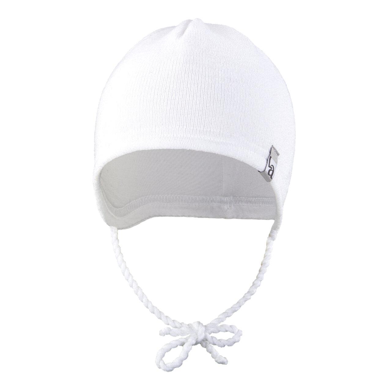 b905e2e4d Čiapka pletená zaväzovacia LA Outlast ® veľ.1,35-38cm biela little angel