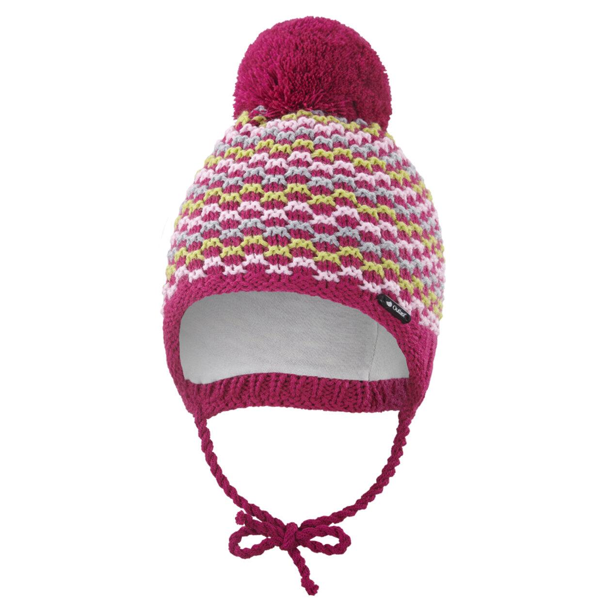 e250a12bf Čiapka pletená zaväzovacia vlnky Outlast ® veľ.3,42-44cm ružová little angel