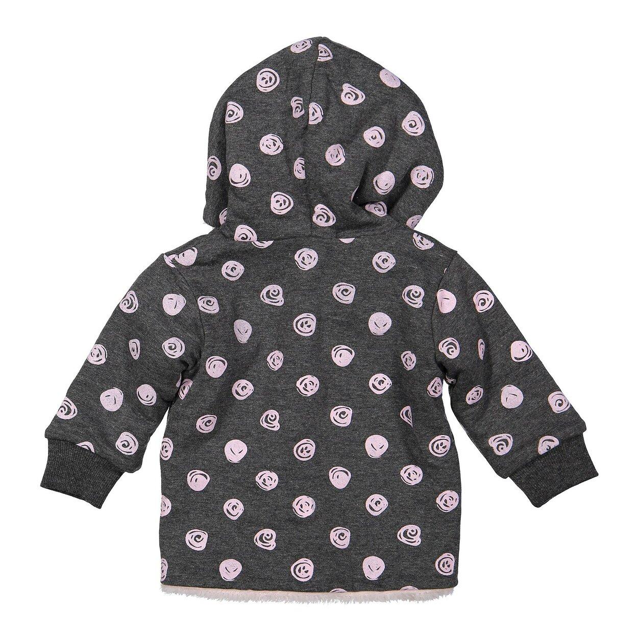 95539d171929 ... Mikina s kožušinkou Z-SO SOFT HUNNY BUNNY Dark grey melee + Light pink  dots 92. 30%